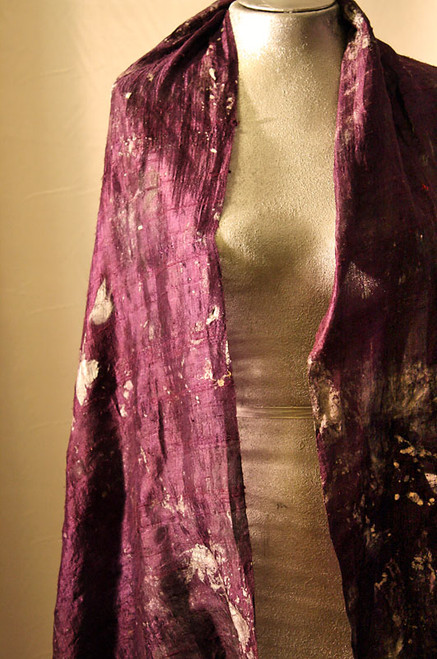 Deep purple raw silk jacket