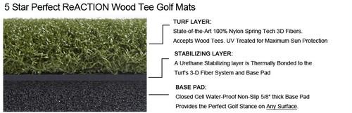 5 STAR GORILLA Perfect ReACTION Golf Mats - 4' x 5'