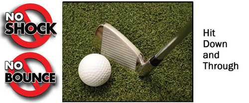 Martin Hall's 5 Star Perfect ReACTION Golf Mats - Hit Down and Through - No Shock No Bounce!