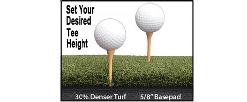 Martin Hall's 5 Star Perfect ReACTION Golf Mats - Set Your Desired Tee Height!