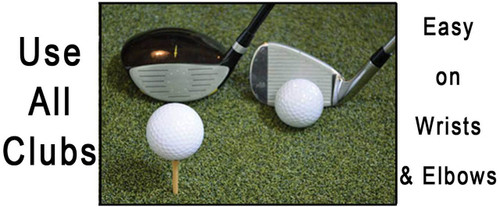Martin Hall's 5 Star Perfect ReACTION Golf Mats - Easy on the Wrists and Elbows