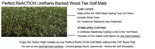 Martin Hall's 5 Star Urethane Backed Perfect ReACTION Golf Mats No Shock No Bounce