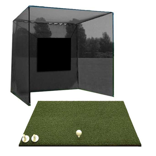 5 Star High Velocity Golf Cage 10x10x10 - 5 Star Commercial Golf Mat Combo