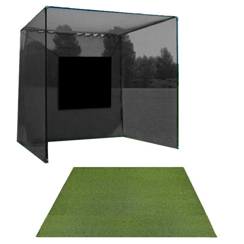 5 Star High Velocity 10x10x10 Golf Cage and 5 Star Residential Golf Mat Combo