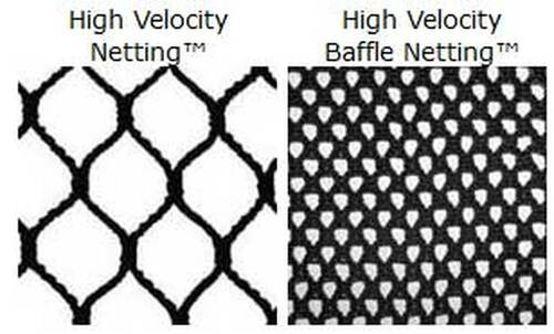 10' x 10' x 10' Cage Netting and Baffle Panel (Double Backstop) Replacement Kit