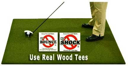 Urethane Backed Perfect ReACTION Wood Tee Golf Mat