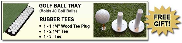All 5 Star Perfect ReACTION Golf Practice Mats Come With Free Golf Ball Tray and Free Rubber Tees!