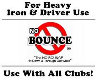 Multi-Club Golf Mats are perfect for iron use!