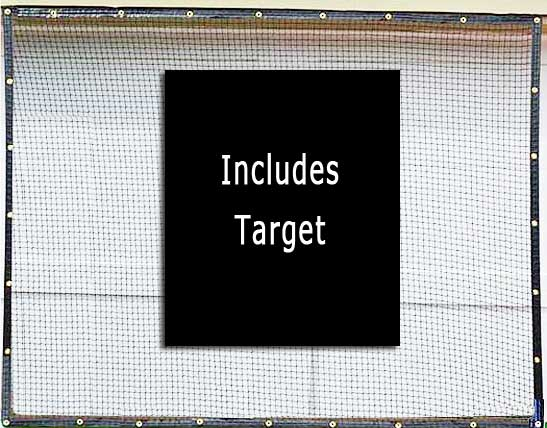 High Velocity Golf Net Panels With Target