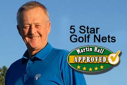 5 Star Golf Mats are Martin Hall Approved