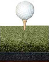Wood Tee in Perfect ReACTION Golf Mat