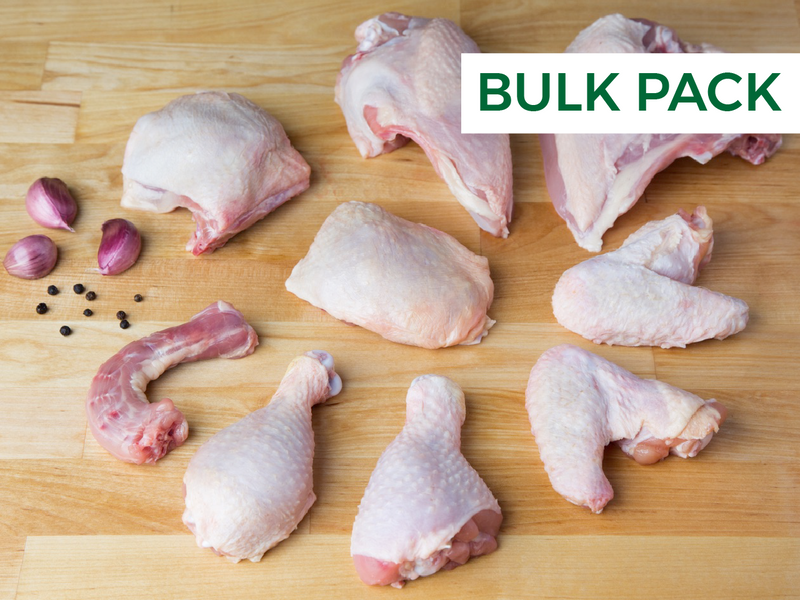 Whole Chicken, Cut in Eighths (Bulk Pack)