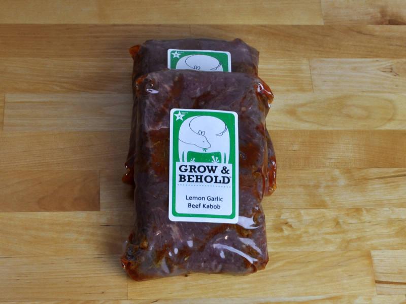 Lemon Garlic Beef Cubes for Kabobs