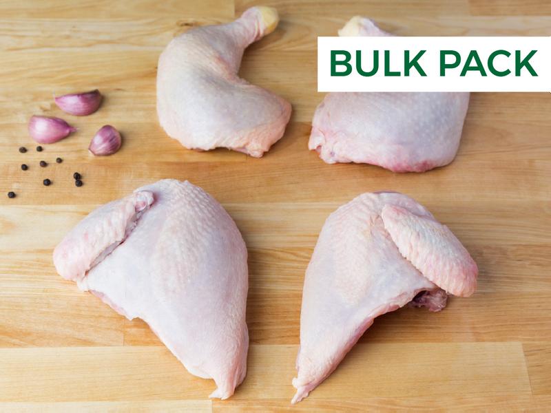 Whole Chicken, Cut in Quarters (Bulk Pack)