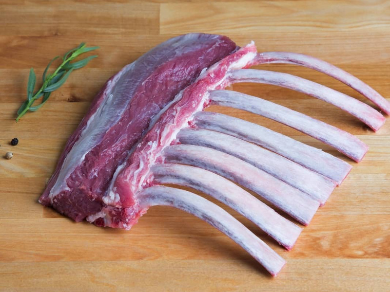 Butcher's Cut Rack of Lamb (Frenched) (Kosher for Passover)