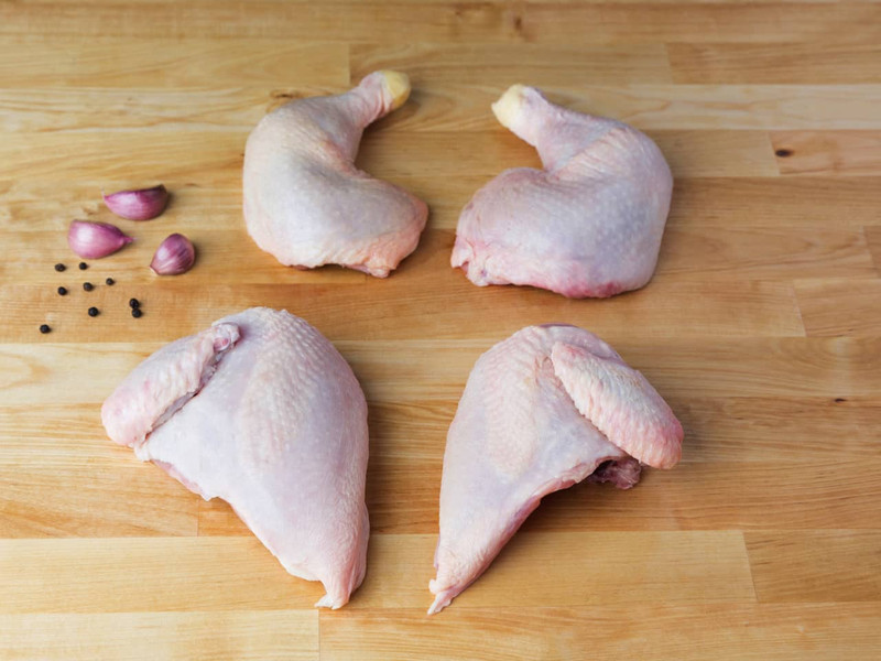 Whole Chicken, Cut in Quarters