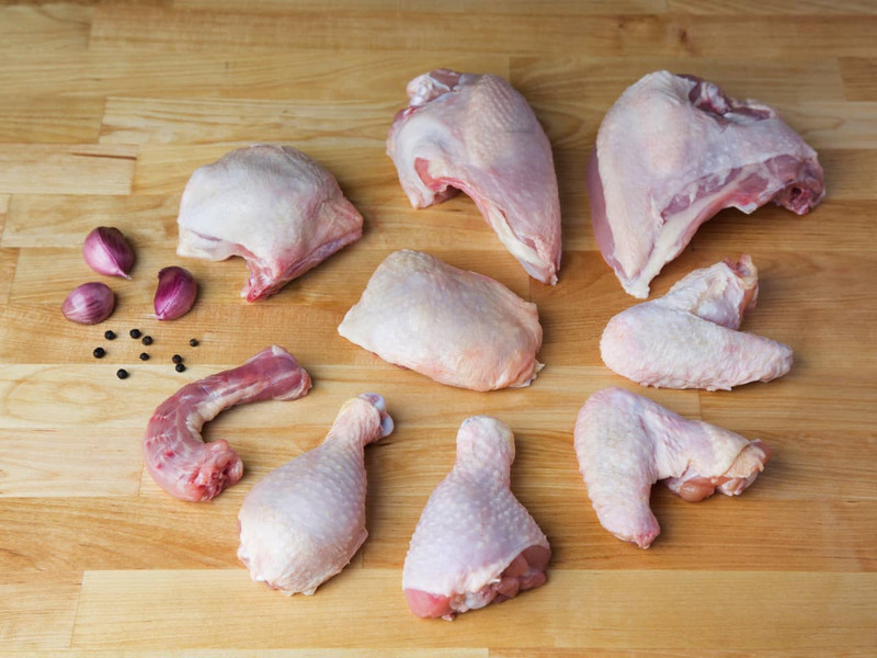 Whole Chicken, Cut in Eighths