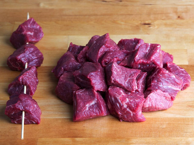Beef Cubes for Kabobs