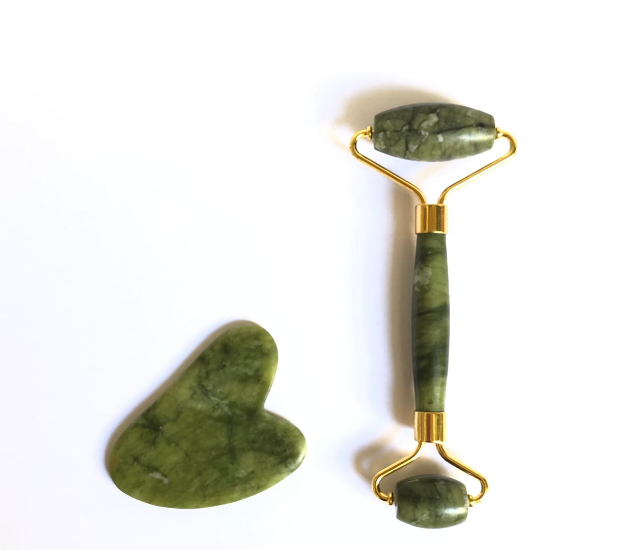 Jade face roller en gua sha tool