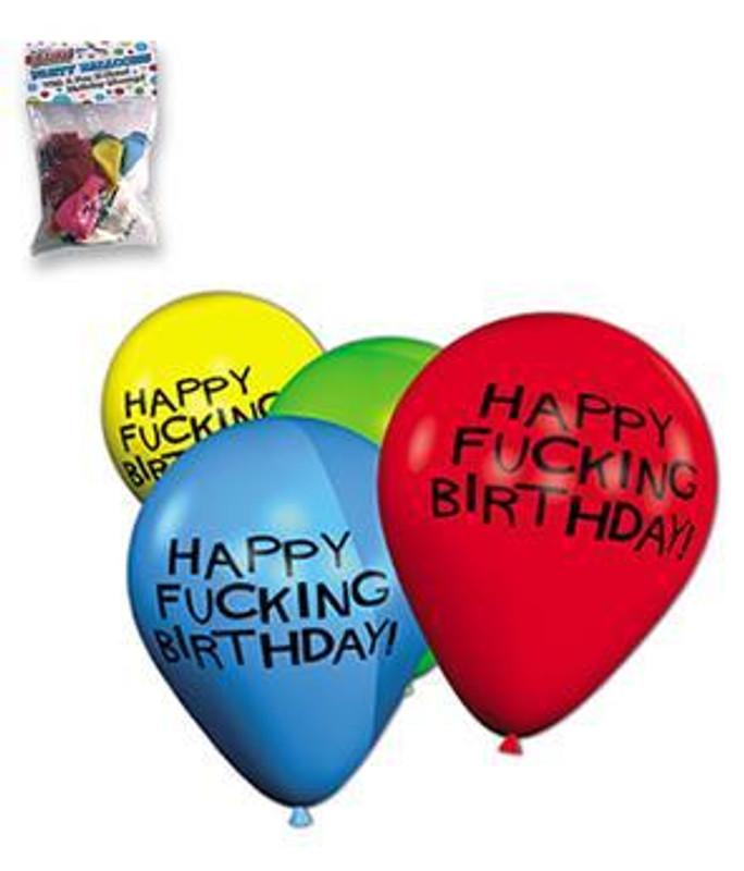 "11"" Happy F*Cking Birthday Balloons - Bag Of 8"