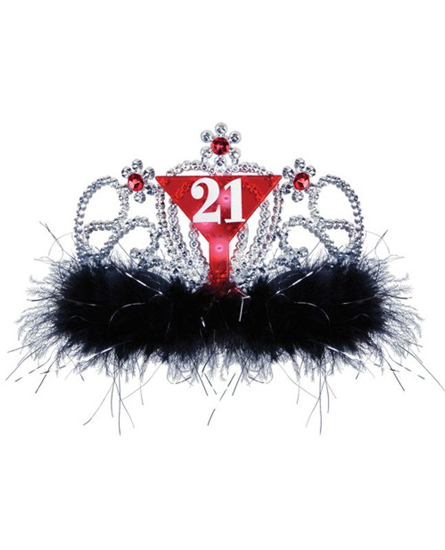 21st Birthday Flashing Tiara