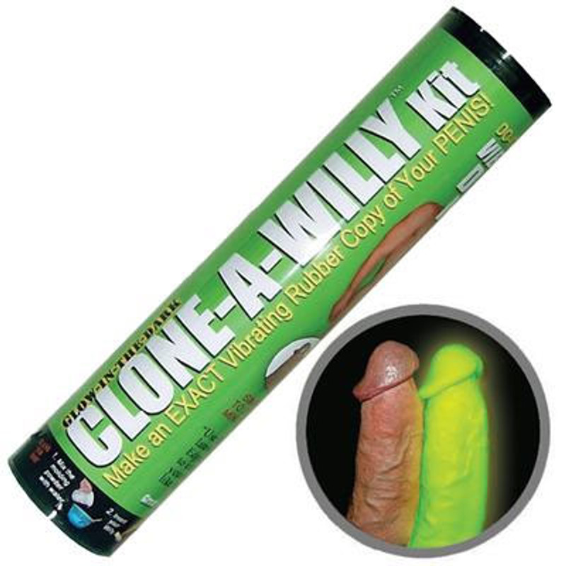 Clone - A - Willy Kit Vibrating Dildo - Glow In The Dark