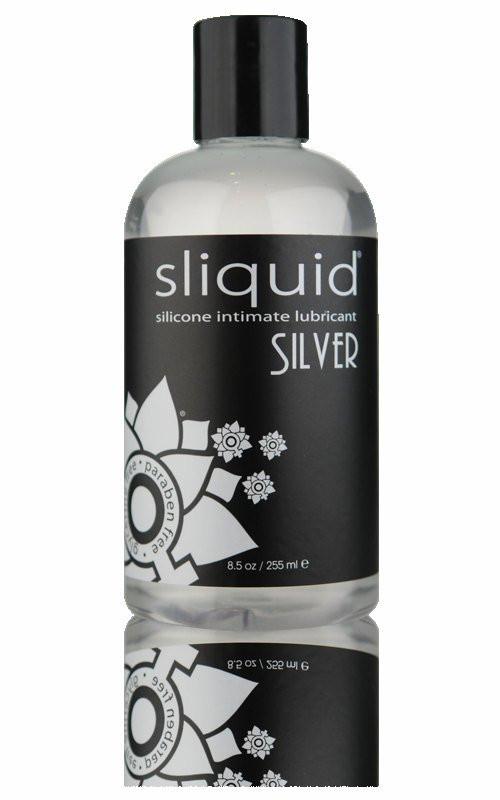 Sliquid Silver Silicone Glycerine & Paraben Free Personal Lubricant 8.5 Oz Bottle