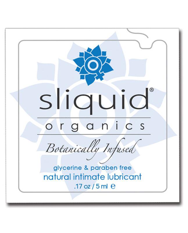 Sliquid Organics Natural Intimate Personal Lubricant .17 Oz Pillow