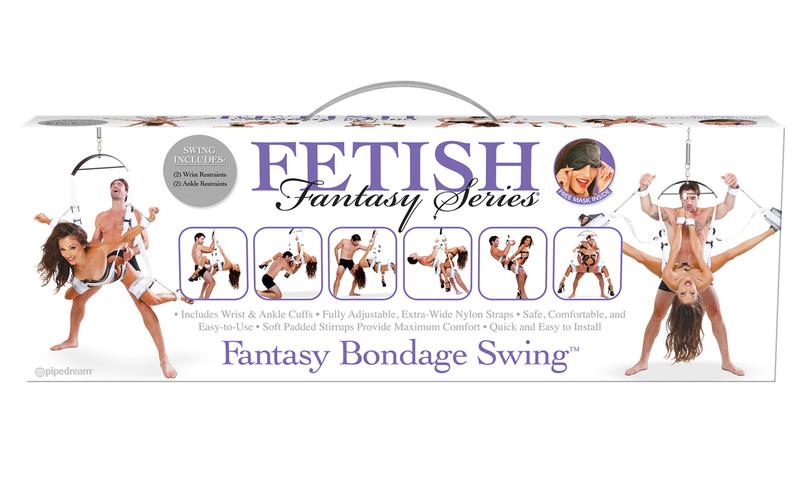 Pipedream Fetish Fantasy Series Bondage Sex Swing - White