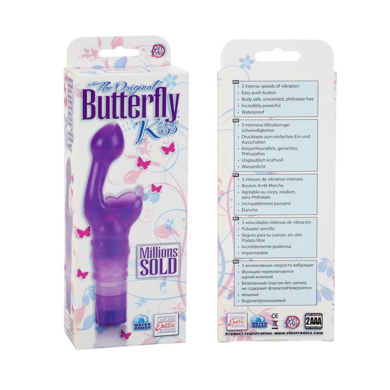 CalExotics Butterfly Kiss Rabbit Vibrator - Purple