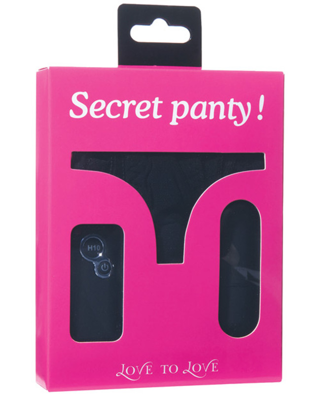 Dorcel Love To Love Secret Vibrating Panty - Black