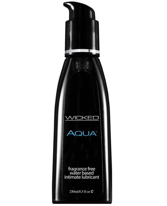 Wicked Sensual Care Collection Collection Aqua Waterbased Personal Lubricant - 8.5 Oz Fragrance Free