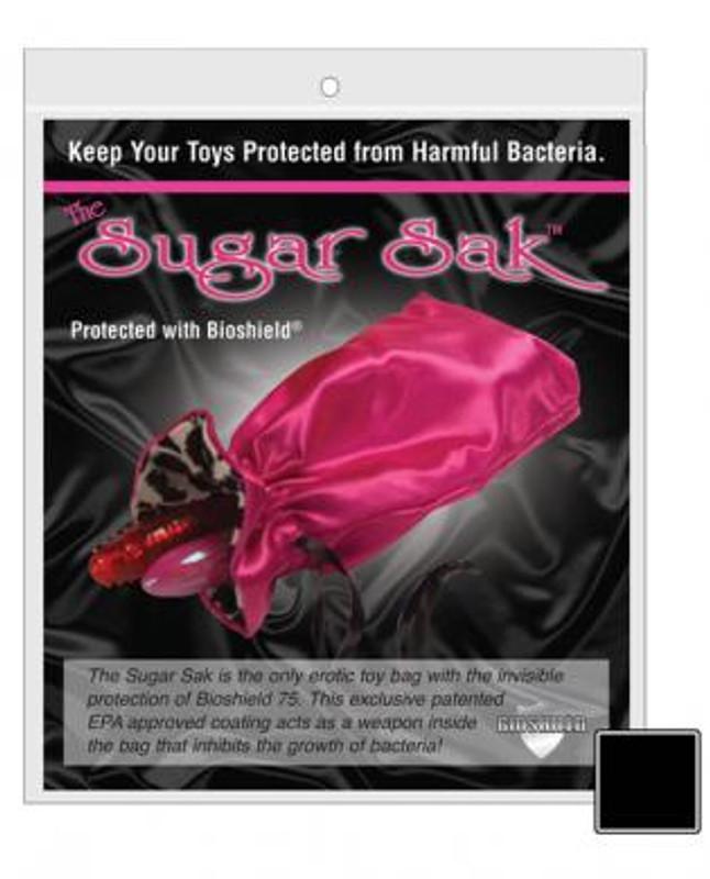 Sugar Sak Anti - Bacterial Toy Bag Large - Black