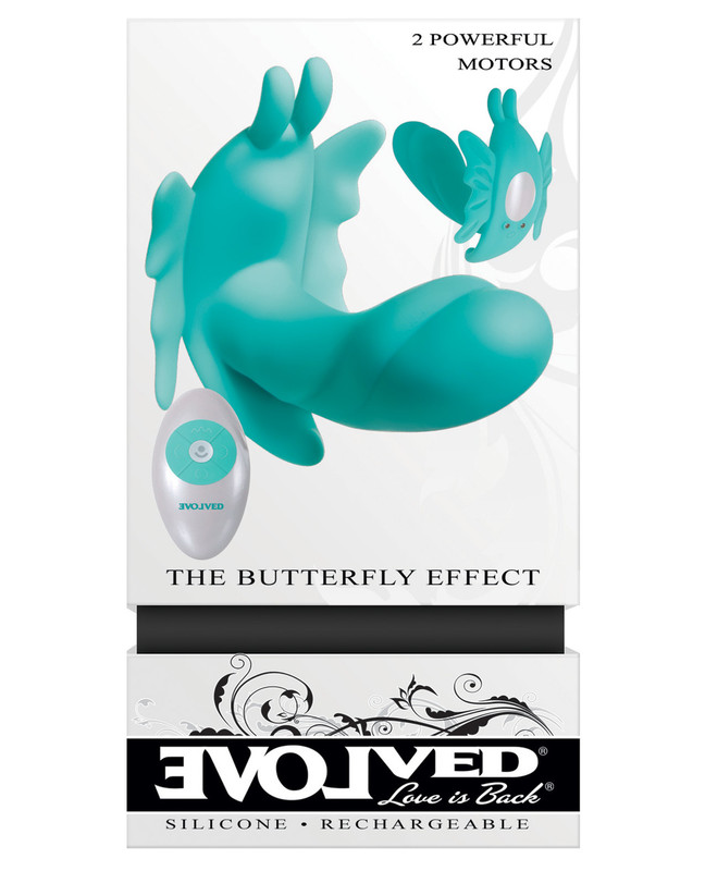 Evolved The Butterfly Effect Rechargeable Dual Stim Rabbit Vibrator - Teal