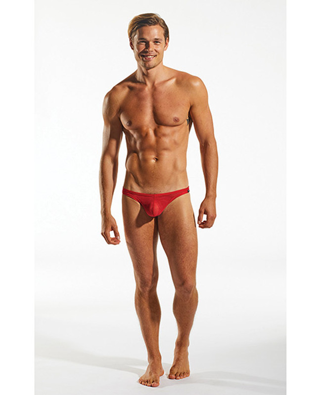 Cocksox Men's Sheer Snug Pouch Thong Cupid Red Xl