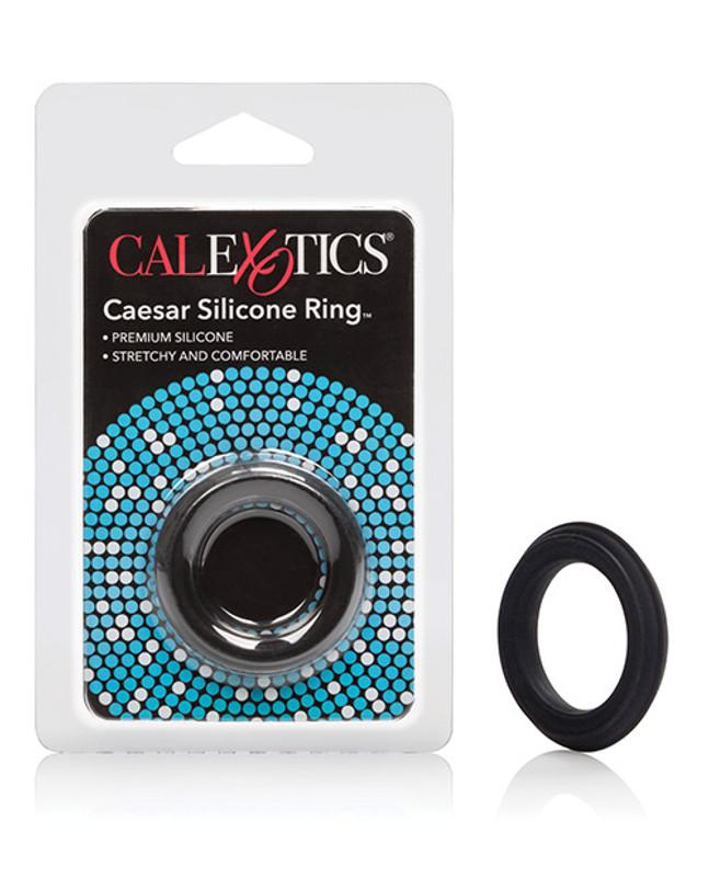 CalExotics Caesar Silicone - Black Cock Ring