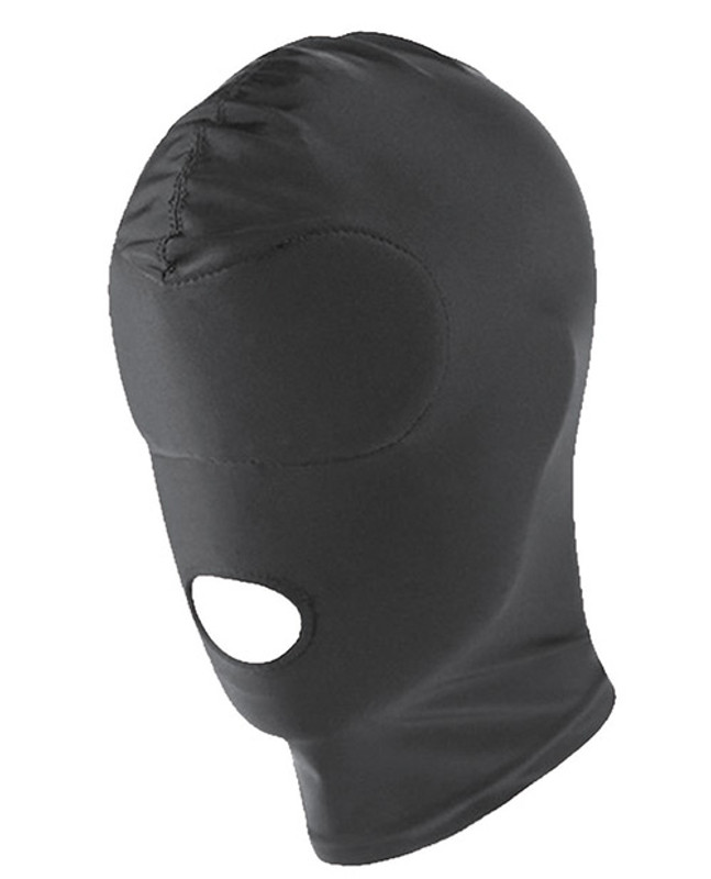 Spartacus Fetish Spandex Hood With Open Mouth