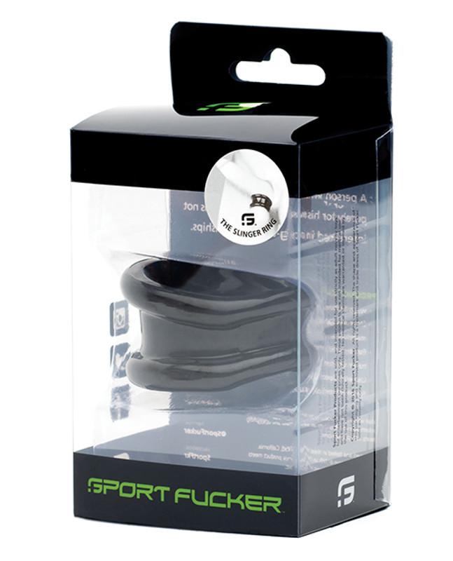 Sport F*cker Slinger Cock Ring - Black