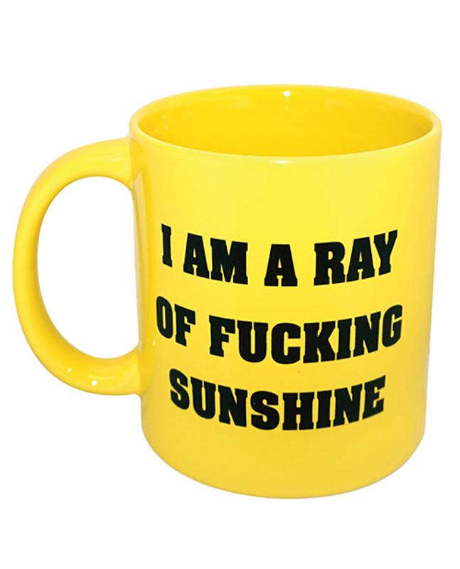 Attitude Mug I Am A Ray Of F*cking Sunshine - Yellow