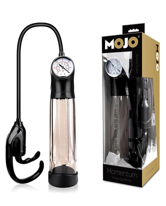 Mojo Momentum Power Grip Penis Pump - Black/Smoke