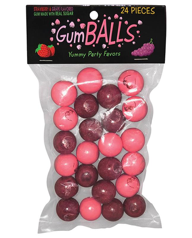 Gumballs - Strawberry & Grape Pack Of 24