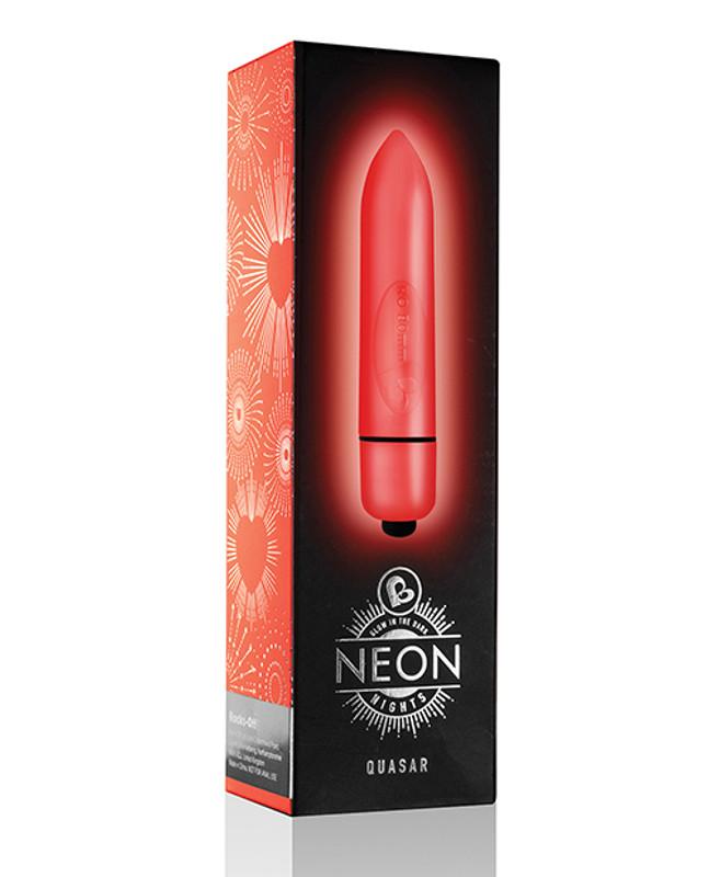 Rocks-Off Neon Nights Quasar Bullet Vibrator - Red