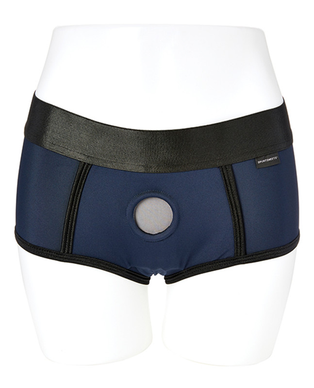 Sportsheets Em.Ex. Fit Strap On Dildo Harness X - Large - Blue