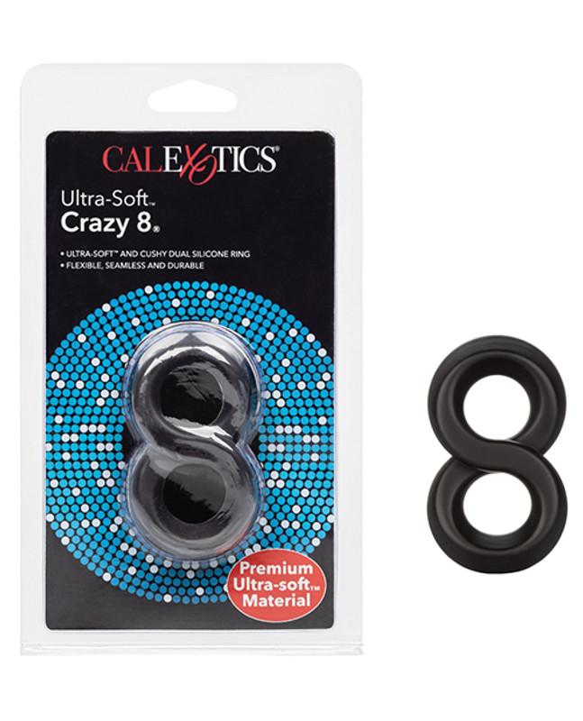 CalExotics Ultra Soft Crazy 8 - Black Cock Ring