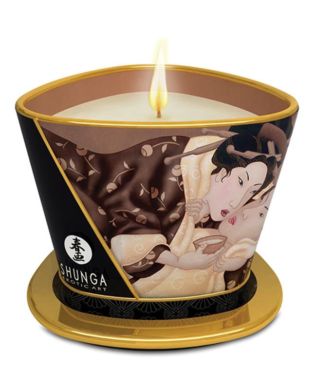 Shunga Massage Candle Excitation - 5.7 Oz Intoxicating Chocolate
