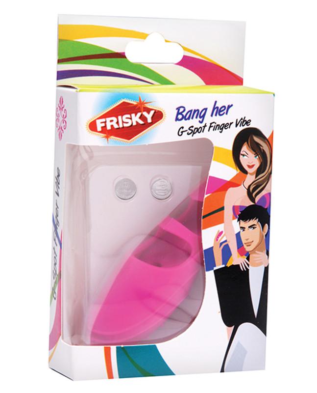 Frisky Finger Bang Her G-Spot Finger Vibrator - Pink