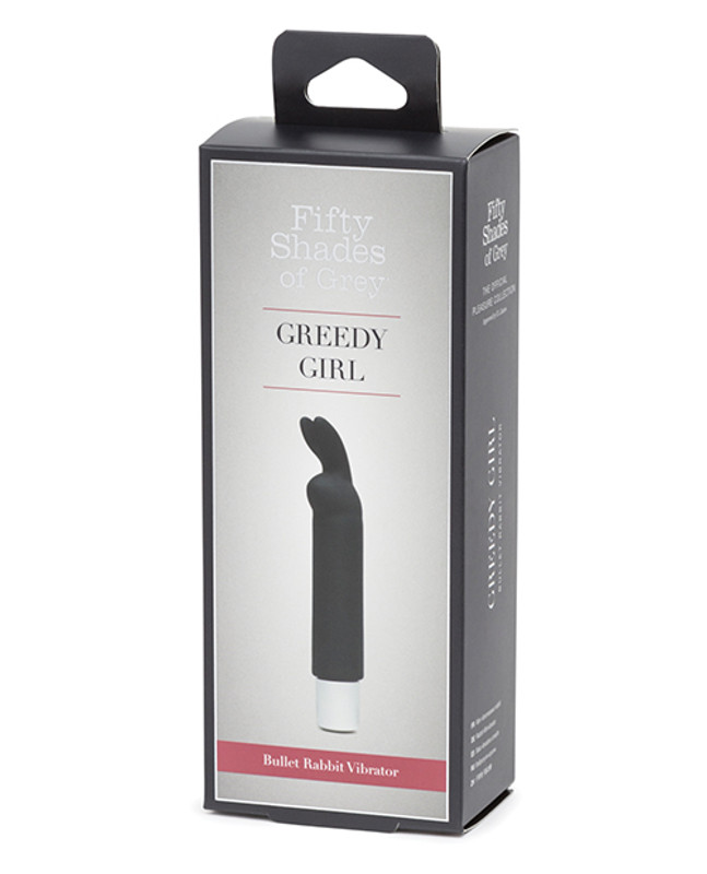 Fifty Shades Of Grey Greedy Girl Rechargeable Bullet Rabbit Vibrator - Black