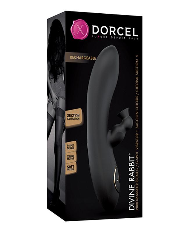 Dorcel Sucking Divine Rabbit Vibrator - Black