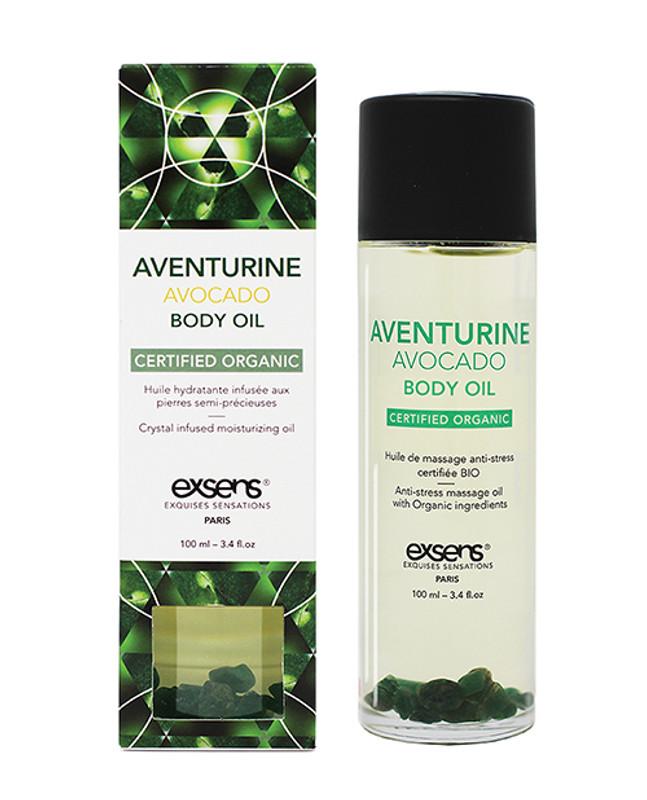 Exsens Organic Body Oil With Stones - Adventure Avocado 100 Ml