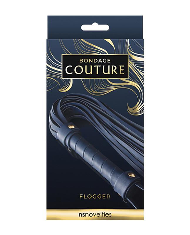 Bondage Couture Vinyl Flogger - Blue